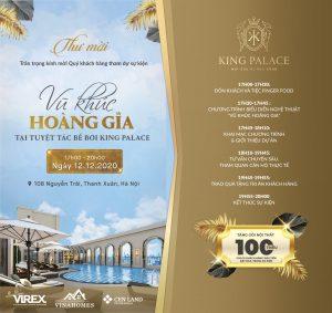 """Sắp diễn ra sự kiện """"Vũ khúc hoàng gia"""" tại tuyệt tác bể bơi King Palace"""